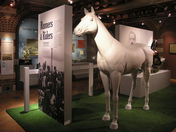 RUNNERS AND RIDERS AT THE HARLEY GALLERY