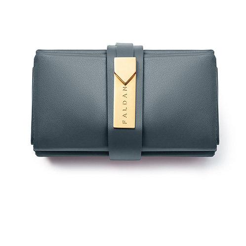 Faldan Bag in Blue Leather