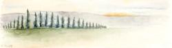 זריחה נחל רז, אקוורל 5X17.5 ק.jpg