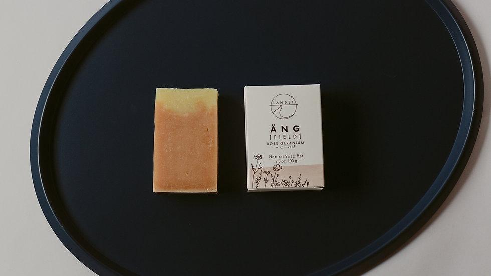 ÄNG - ROSE GERANIUM & CITRUS, NATURAL BAR SOAP