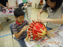 親子カブト作り教室