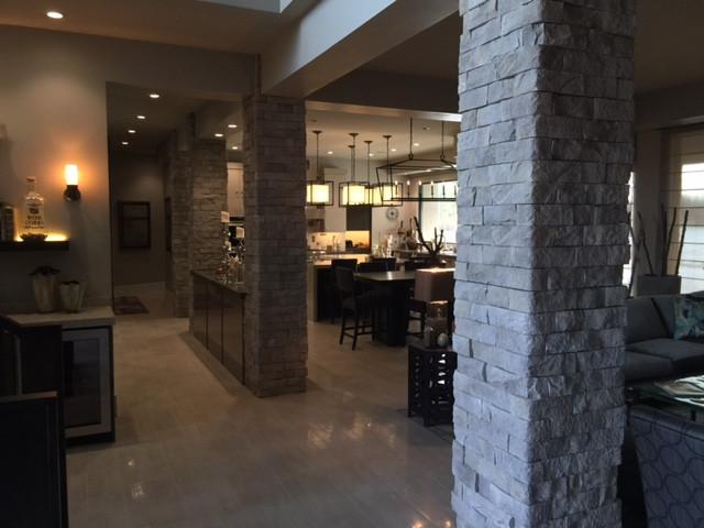 Custom Interior Stone Living Room