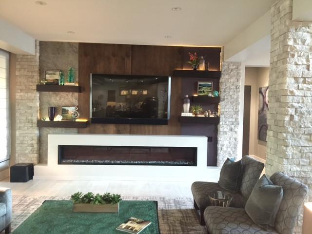 Custom Entertainment Center in Living Room