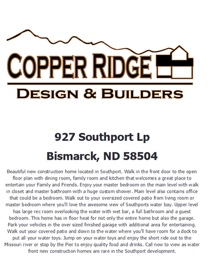 Home Builder 927 Southport Loop Copper Ridge Design And