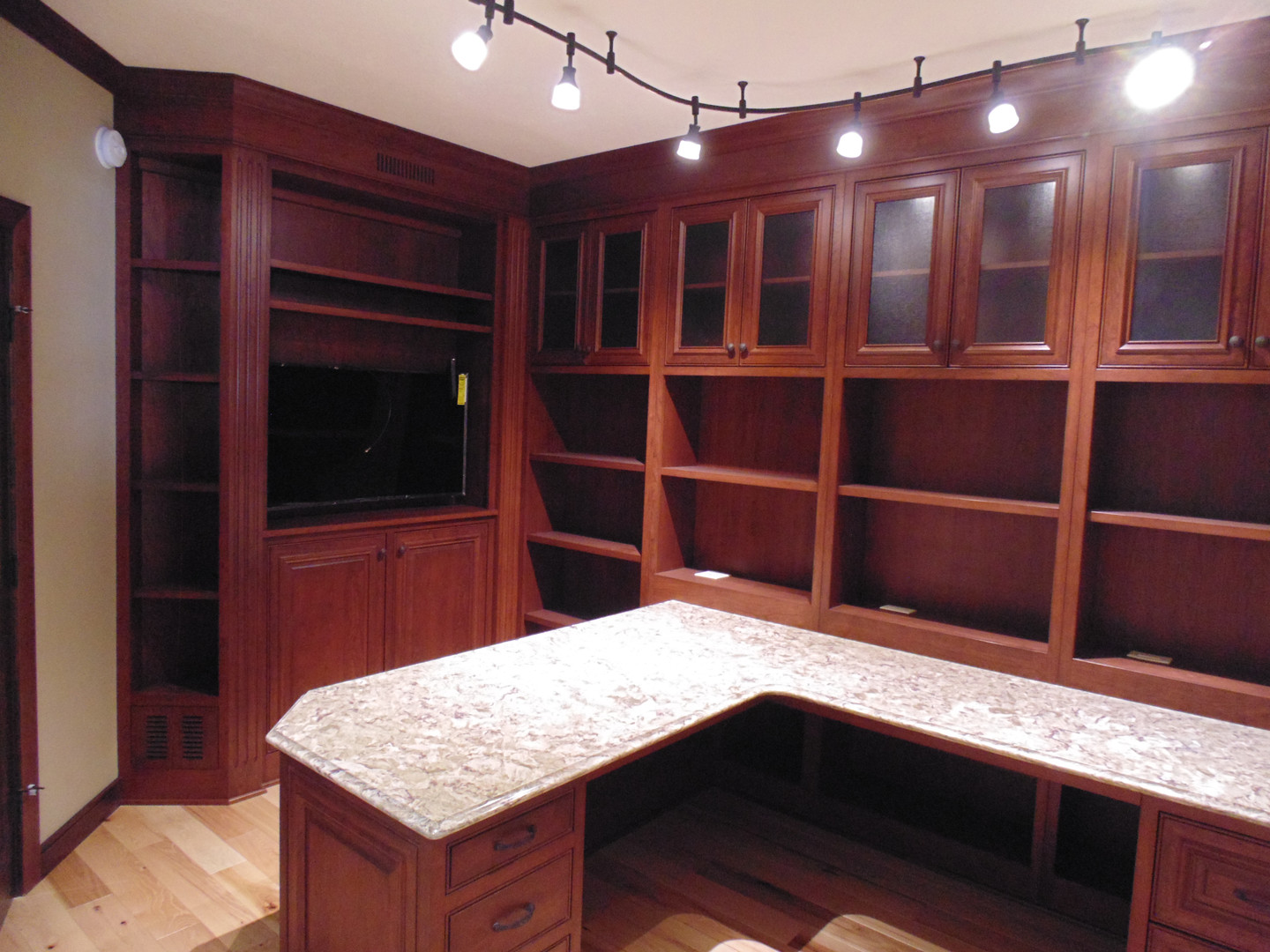 Office with Custom Cabinets