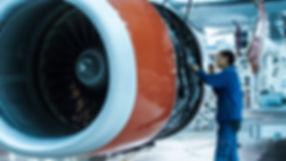 Aircraft maintenance mechanic with a fla