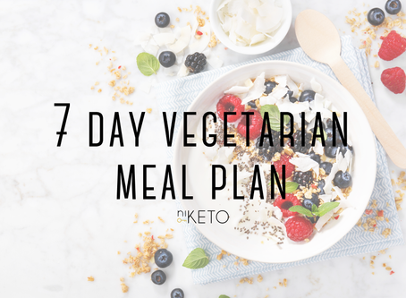 7 DAY VEGETARIAN MEAL PLAN