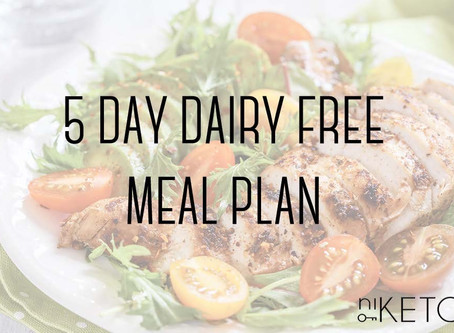 5 day dairy-free meal plan