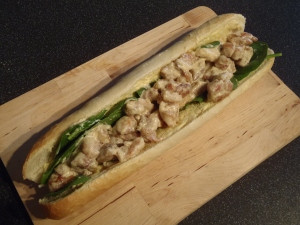 CREAMY CHICKEN-AND-MUSTARD SUBMARINE