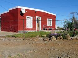 Brightly painted Karoo style house