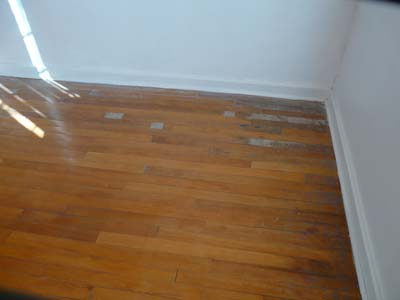 Wooden floors before renovations