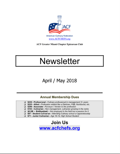 April/May NewsLetter