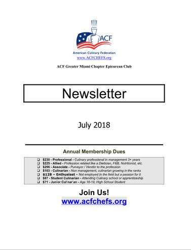 July News Letter