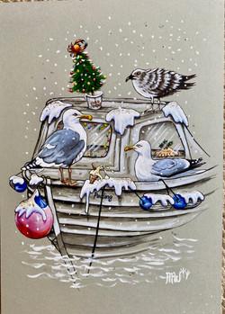 Christmas on the Boatfloat Dartmouth