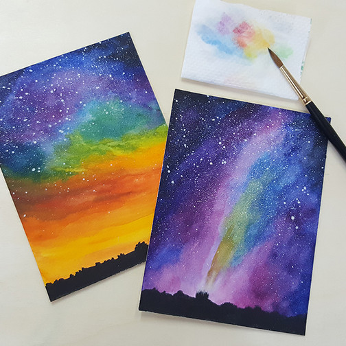 Watercolor starry 4