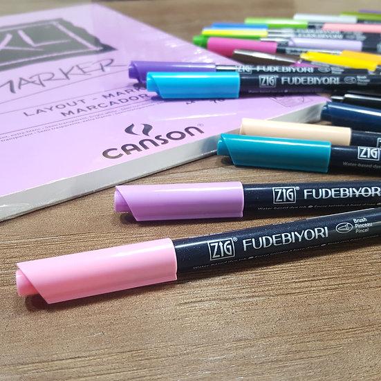 ZIG Fudebiyori Brush Pen 48 colors