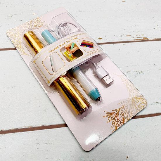 Gilding Gold Pen Set USB 0.8mm