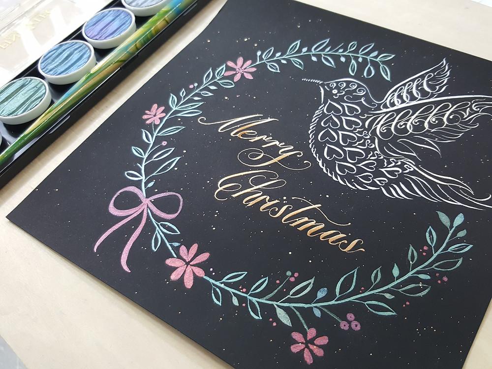 花環 雀鳥
