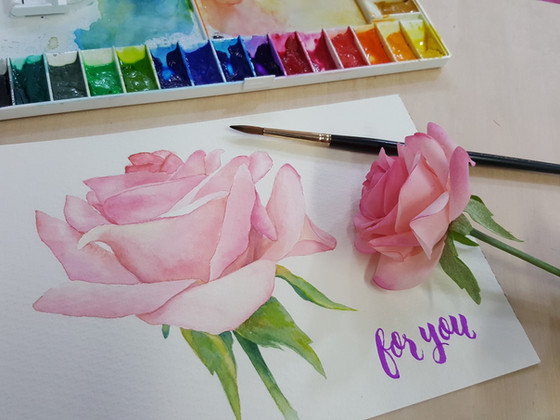 花之戀+Brush Calligraphy 繪畫工作坊