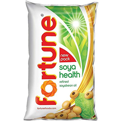 Fortune Soyabean Oil, 1L Pouch