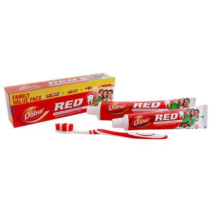 Dabur Red Toothpaste (200 + 100) Gm (With Free Toothbrush)