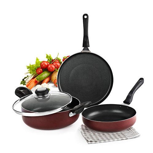 Cello Prima Induction Base Non-Stick Aluminium Cookware