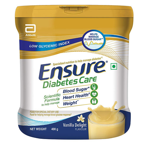 Ensure Diabetes Care Adult Nutrition Health Drink- 400gm (Vanilla)