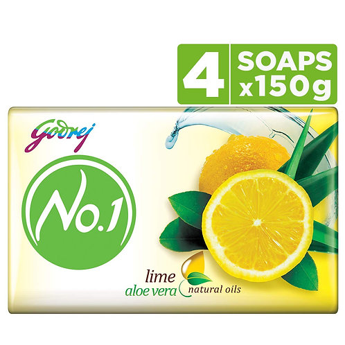 Godrej No.1 Bathing Soap - Lime & Aloe Vera