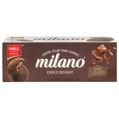 Parle Platina Milano Choco Delight Centre Filled Dark Cookies 75 g