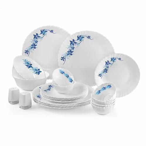 Cello Opalware Dinner Set - Dazzle, Blue Swirl, 23 pcs