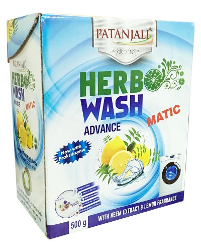 Patanjali Herbo Wash Advance Matic Detergent Powder 500 gm