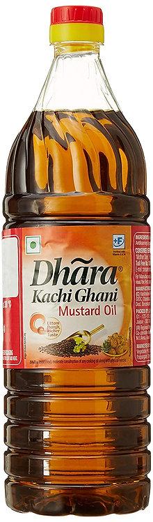 Dhara Kachi Ghani Mustard Oil, 1L