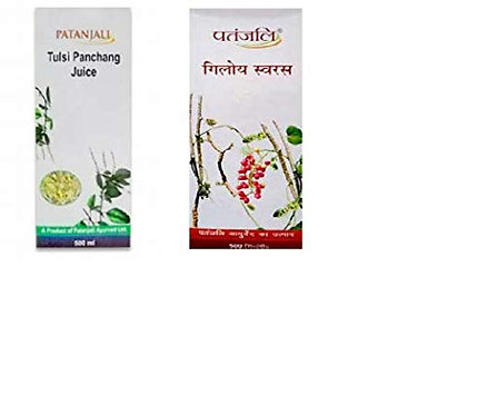 Patanjali Tulsi & Giloy Juice Combo - Boosts Immunity - 500ml each