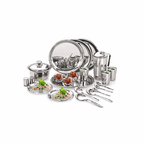 Neelam Premium Stainless Steel Dinner Set, 36 Pcs