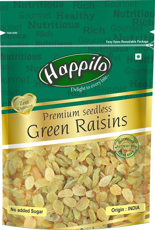 Happilo Premium Seedless Green Raisins  ,250 gm