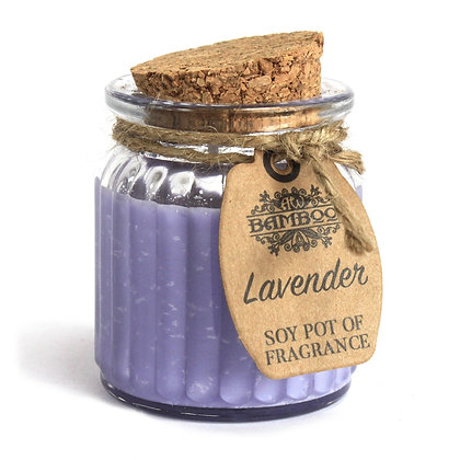 Soy Wax Lavender Candle in Recycled Glass Jar