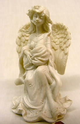 Angel With Baby Statuette