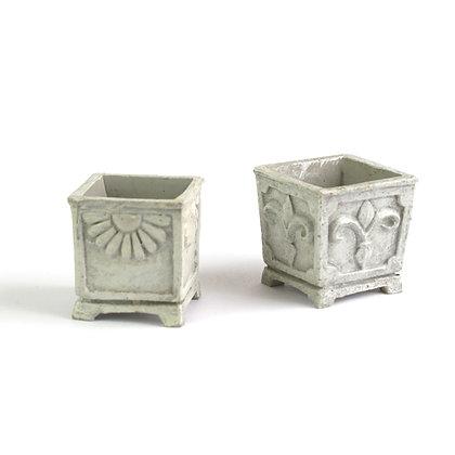 Square stone Planter (pair)