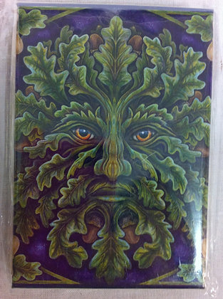 Green Man Magnet by British Artist Lisa Parker