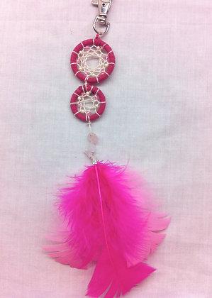 Pink Dreamcatcher Keyring