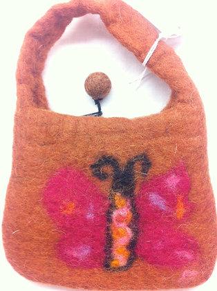 Fair Trade Mini Butterfly Felt Bag