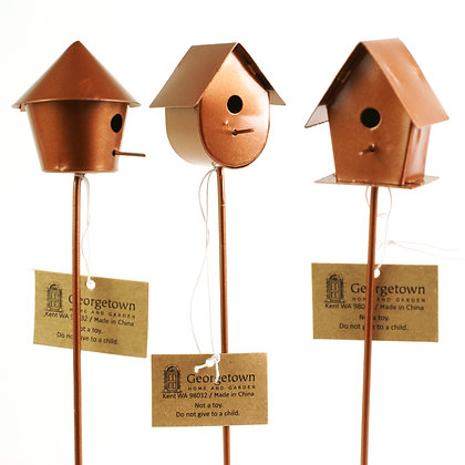 Mini Bird Houses - 3 pcs