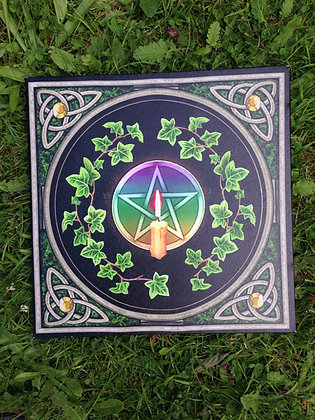 Celtic pentacle and candle canvas