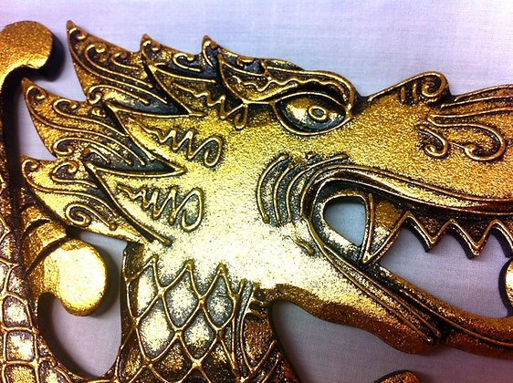 Fair Trade Golden Dragon Plaque