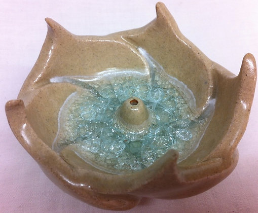 Fair Trade Handmade Lotus Incense Catcher