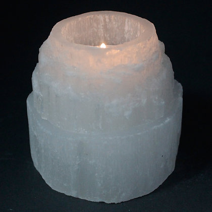 Selenite 'Mountain Top' Candle Holder