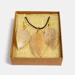 GOLD real leaf set