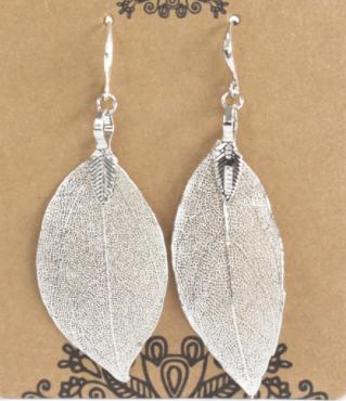 Real Leaf Earrings