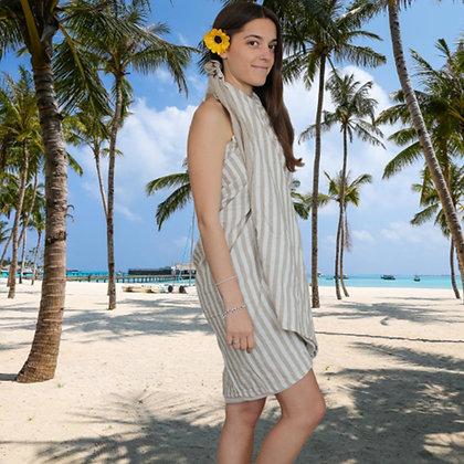 Sand Stripy Cotton Throw