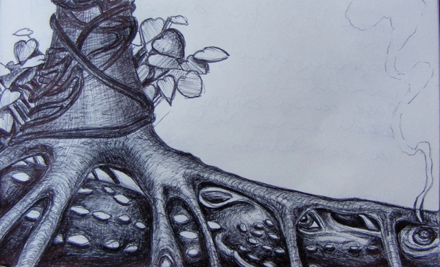 Linden Dragon drawing by amanda c vesty